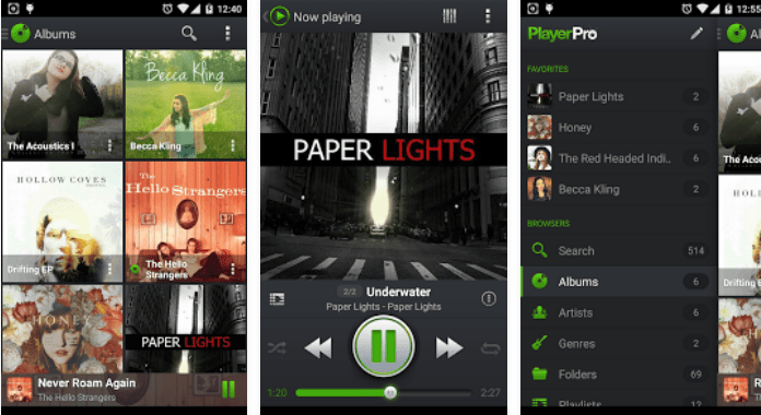 Best Android Music player Apps PlayerPro