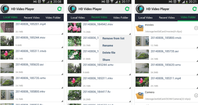 HD Player Best Android Video Player Apps