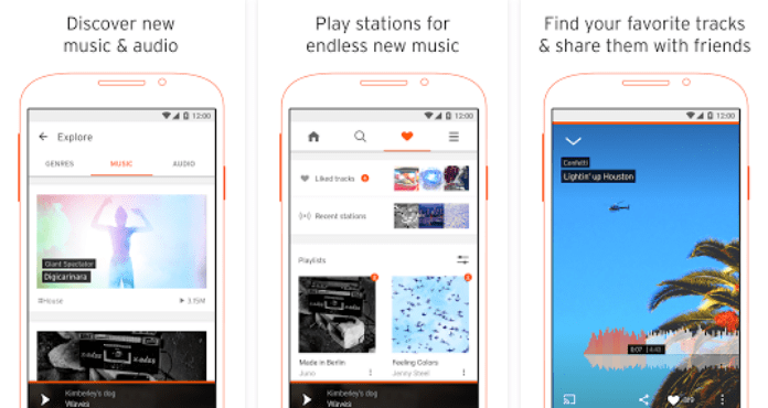SoundCloud Best Free Music Apps for Android
