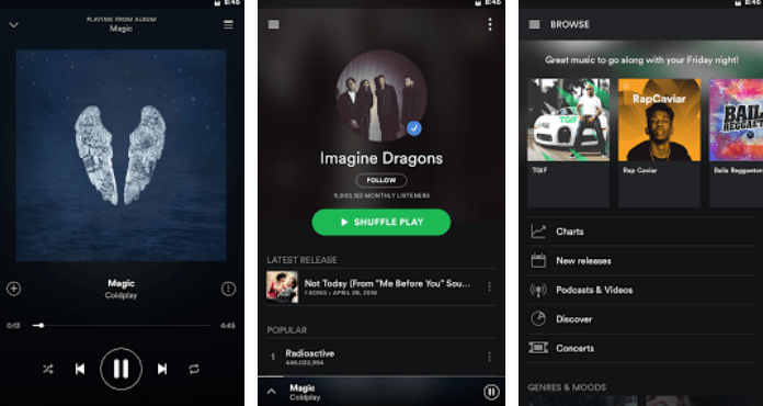 Best Free Music Apps for Android Spotify