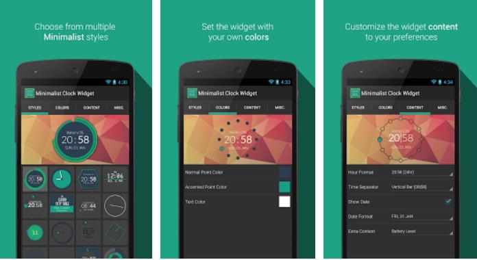 Best Clock Widgets for Android Minimalist Clock Widget