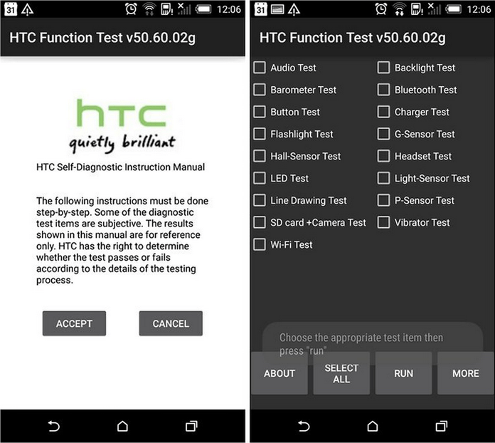 HTC Android Secret Codes, Hidden Menus, Dialer Codes