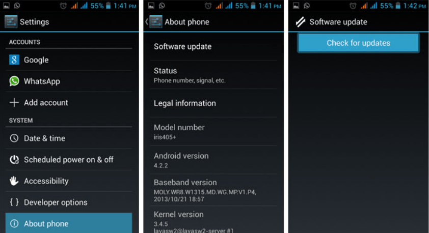Know how to update android to latest version on Smartphone or Tablet