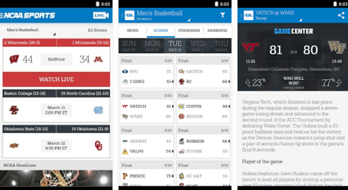 Top 11 Best College Football Apps for Android - 2016 NCAA Sports
