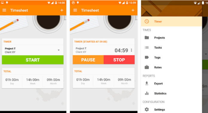 Best Time Tracking Apps for Android Timesheet - Time Tracker
