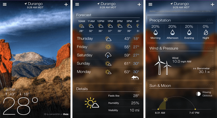 Yahoo Weather Best Weather Apps for Android