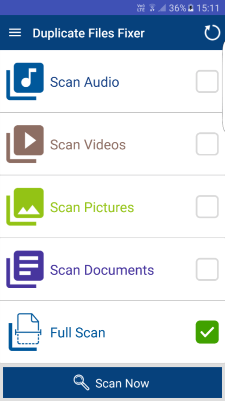 Android App Duplicate Files Fixer Review Individual Scan