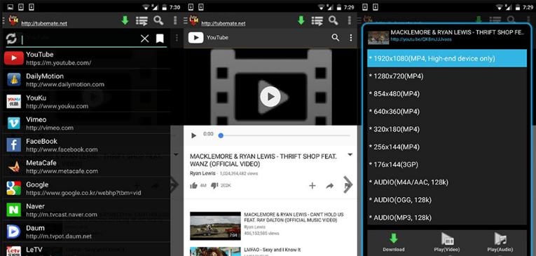 Best Youtube Downloaders for Android TubeMate