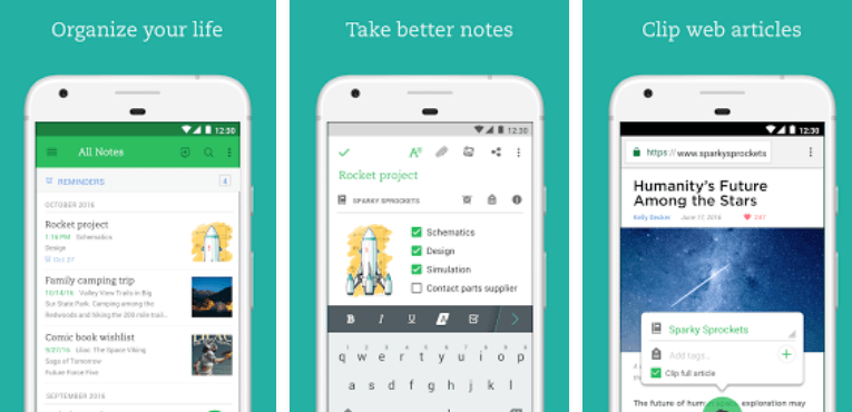 5 Must-Have Apps For Your New Android Phone Evernote - stay organized