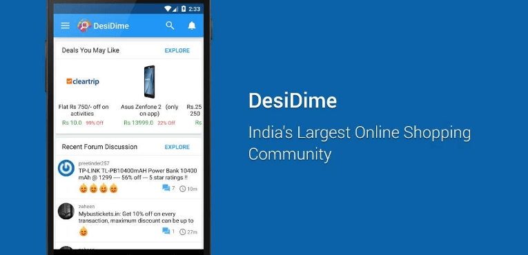 Best Coupon Apps for Android DesiDime Coupons & Offers