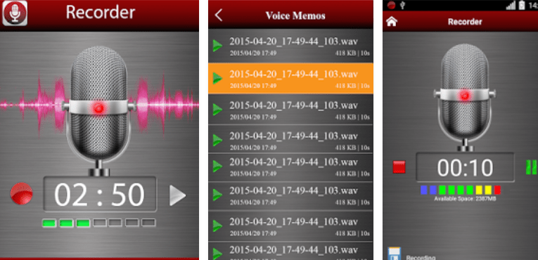 Best Music Recording Apps for Android Voice recorder