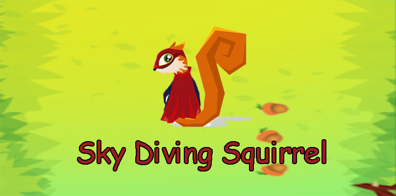 Sky Diving Squirrel Arcade game for Android