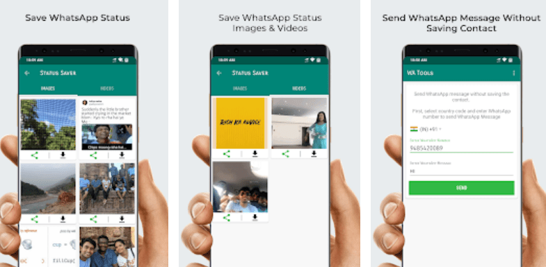 Whatsapp Status Saver, Direct Message app for Android