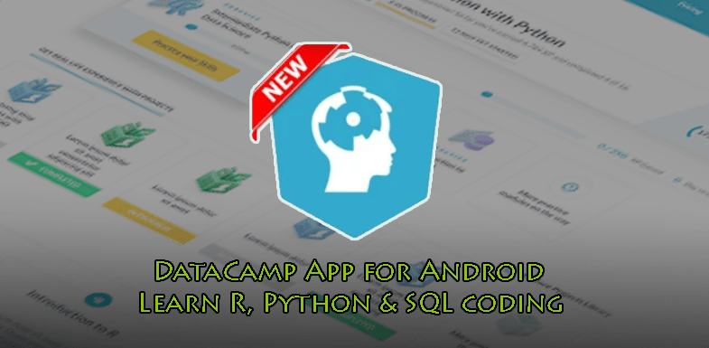 DataCamp App for Android Learn R, Python & SQL coding
