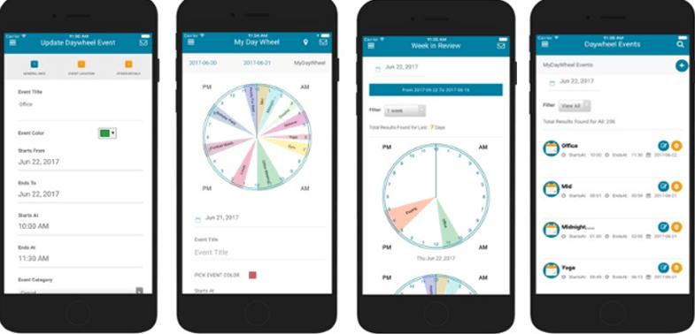 MyDayWheel 24 Hours Life Tracker Tool