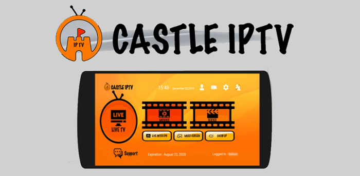 Castle IPTV for Android- Online Streaming App