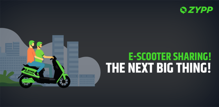 E-scooter sharing! The next big thing!