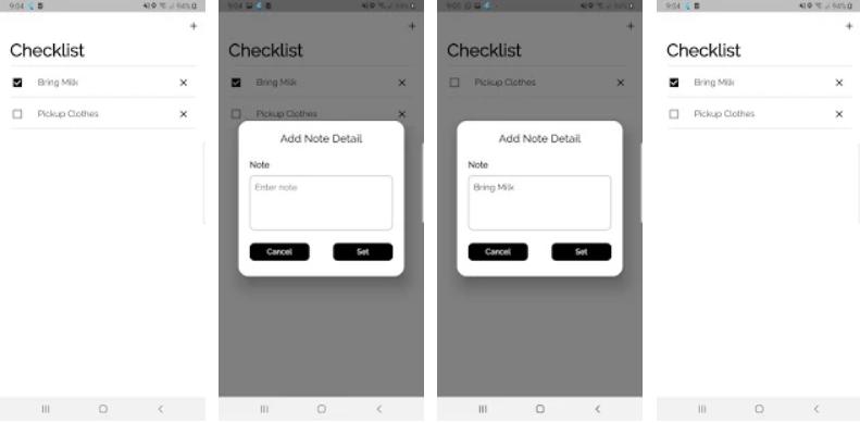 Checklist App