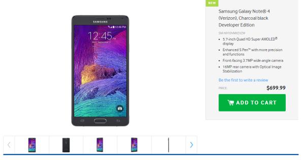 Galaxy Note 4 Developer Edition