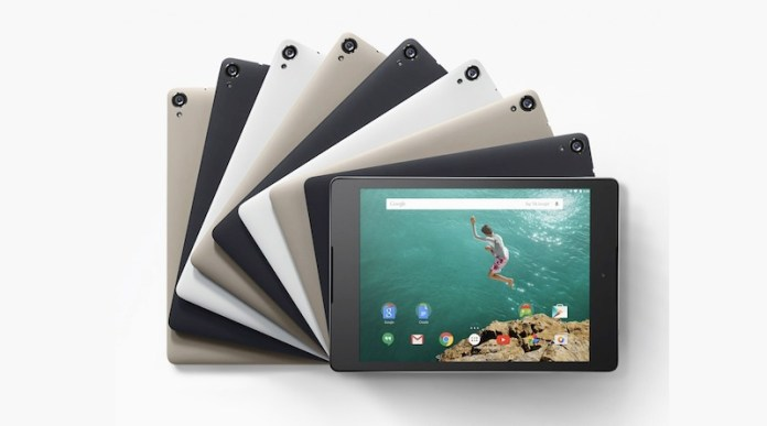 HTC Nexus 9 Android tablet