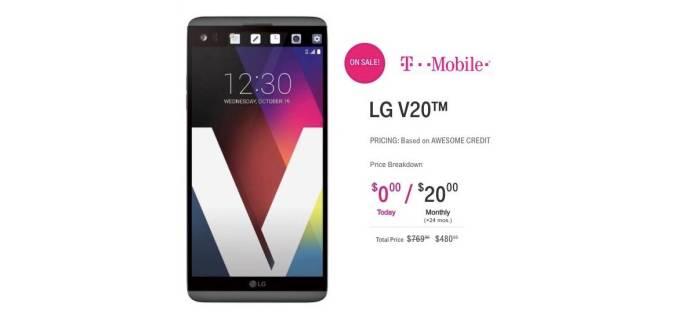 T-MOBILE LG V20 Fire Sale