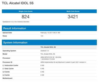 Alcatel Idol 5S Geekbench