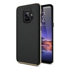 Olixar X-Duo Samsung Galaxy S9 Case - Carbon Fibre Gold