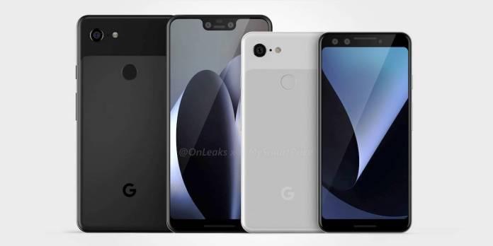 Google Pixel 3 Pixel 3 XL Renders