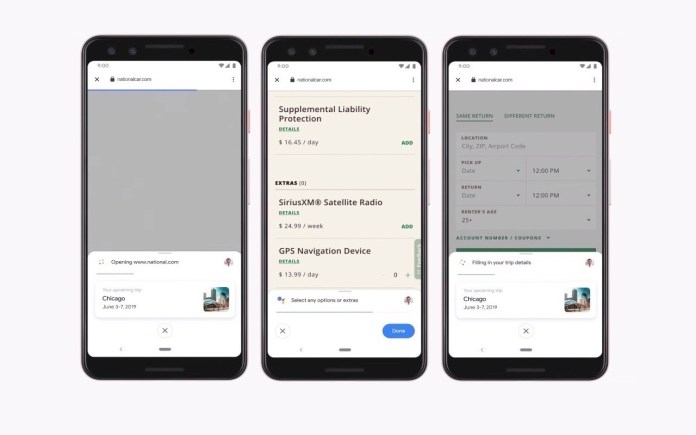 Google Duplex on Web