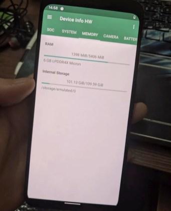 Google Pixel 4 XL Memory