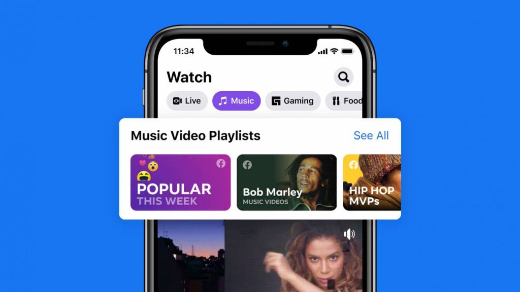 Facebook Adds Licensed Music Videos to Watch, Your News Feed