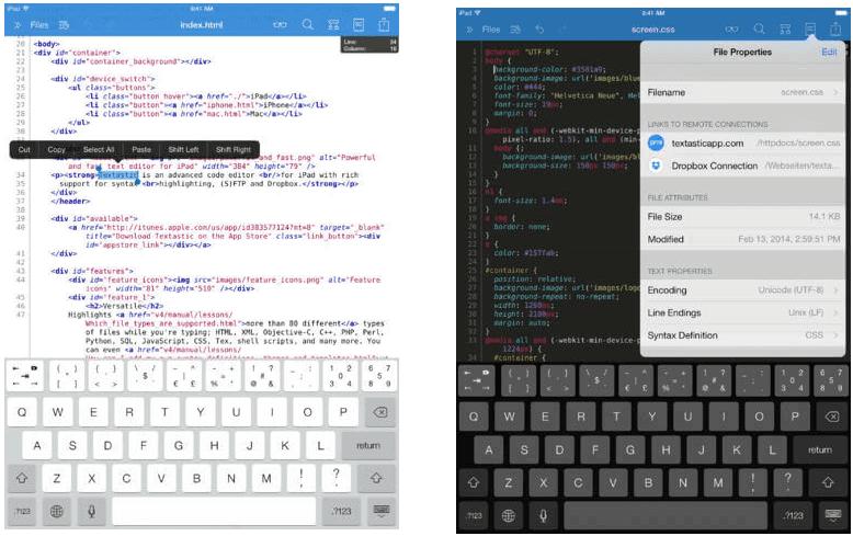 Textastic Code Editor for iPad