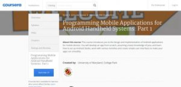 coursera Android course