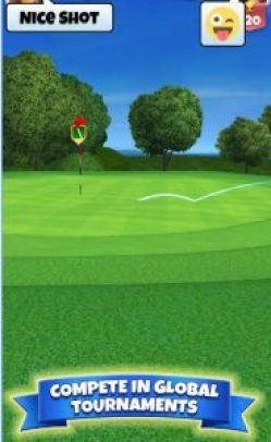 This game is a golf game that allows you to play against real players instead of playing time consuming 18 hole rounds.