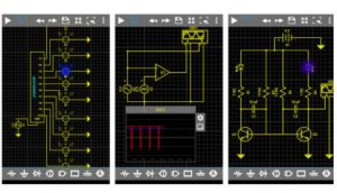 This electrical circuit simulator app allows you to create and test any linear and non-linear circuit that you can create on high specific PC software.