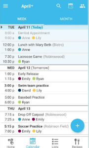 A complete Family calendar app for every family.