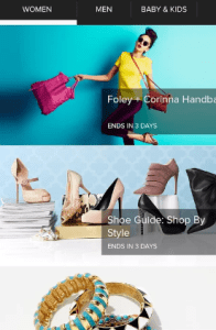 Discount offers on big Brands using gilt app