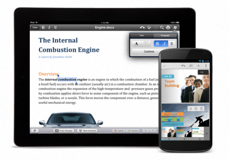 QuickOffice para Android y iOS