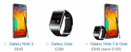 Samsung Galaxy Note 3 y Galaxy Gear