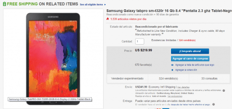 Galaxy Tab Pro 8.4 pulgadas