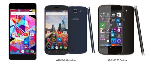 Teléfonos móviles Android Archos IFA 2015