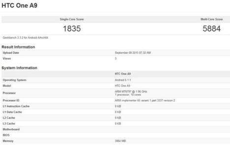 Especificaciones del nuevo HTC One A9 Deca-Core