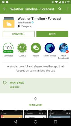 Aplicaciones para Android Wear 01