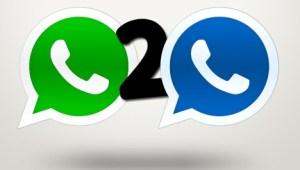 2 WhatsApp en un teléfono móvil