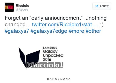 Samsung Unpacked 2016 para el 21 de Febrero