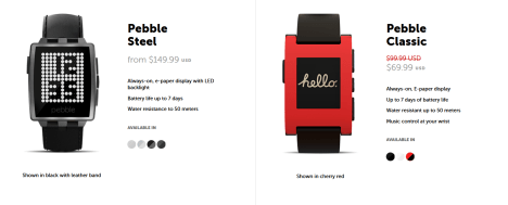 SmartWatchs Pebble por Black Friday