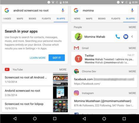 Busqueda de Google en Aplicaciones instaladas en Android