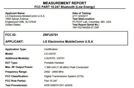 LG X power2 FCC