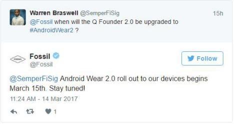 SmartWatch Fossil con Wear 2.0