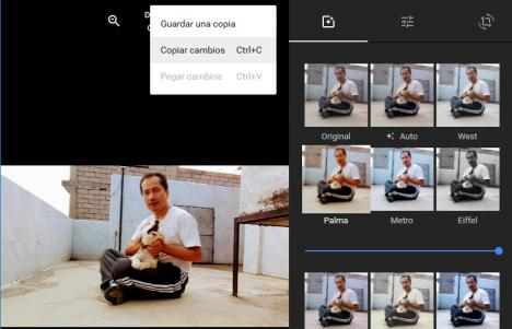 Editar en Google Photos